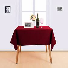 tablecloth for 54x54 table deconovo solid water resistant table cloth high density oxford