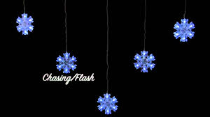 chasing snowflake christmas lights 5 chasing snowflake curtain light youtube