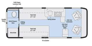 Type B Motorhome Floor Plans 2017 Winnebago Travato Class B