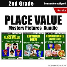 place value mystery number 2nd grade place value mystery pictures coloring worksheets bundle