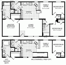 One Story Wrap Around Porch House Plans 4 Bedroom Single Story House Plans Floor Flat Plan Drawing With