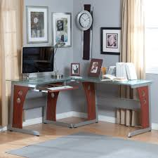 Modern Glass Top Desk Modern Glass Desk Brown Wooden Computer Together With Counter New