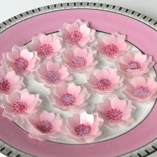 Edible Cake Decorating Paper Edible Cherry Blossom 3d Flowers X 24 Pastel Pink Japanese