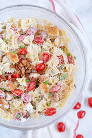 red white and blue cheese potato salad with grilled sausages