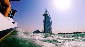 jet ski around the burj al arab and the palm in dubai youtube