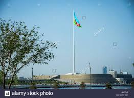 azerbaijan national flag in baku azerbaijan flag with area 2450