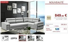 vente unique canapé canapé convertible kaiden tissu gris clair angle droit canapé