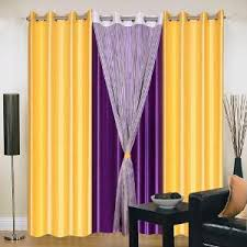 Yellow And Purple Curtains Iws Polyester Eyelet Purple Yellow Curtains For Doors Curtains