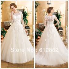 lace 3 4 sleeve wedding dress arrival gown tulle beaded lace 3 4 sleeve