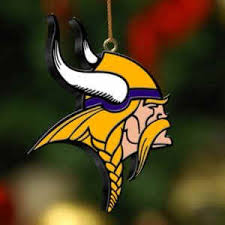 vikings 3d logo ornament