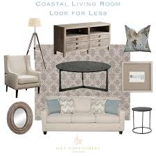 coastal living room look 4 less sita montgomery interiors