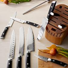 william henry kitchen knives shun kaji 11 knife block set williams sonoma