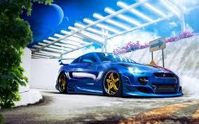 Nissan Gtr Blue - simplywallpapers com nissan gt r blue cars digital art modified