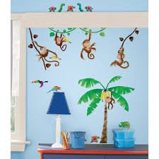 Kids Jungle Rug Jungle Safari Wall Decals Wayfair Studio Designs Monkey Business