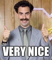 Borat Very Nice Meme - borat very nice blank template imgflip