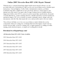 2005 mercedes benz sl55 amg repair manual online by ansley issuu