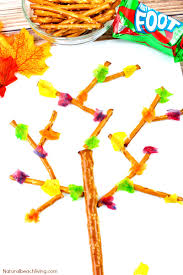 fall snacks kids love to make and eat edible trees natural