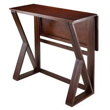 Drop Leaf Table Brace Winsome Trading Harrington Drop Leaf Counter Height Dining Table