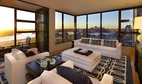 Living Room Coffee Tables by White Leather Loveseat Sofa Window Seating Gray Matras Wood Coffee
