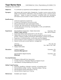Resume Overview Samples by Warehouse Resume Objective Examples Template Design