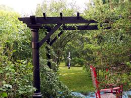 pergola made of wood or metal for a southern flair in the garden