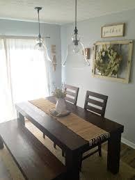 pottery barn farm dining table dining room decor farm house table pottery barn pendants magnolia