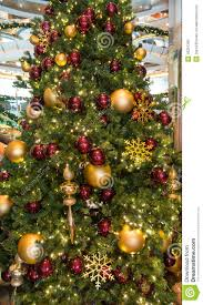 and gold tree ornaments lights decoration