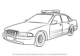 learn how to draw a police car police step by step drawing