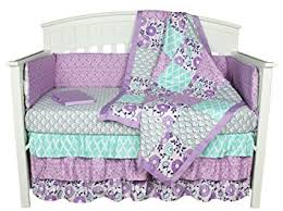 Purple And Teal Crib Bedding Purple Crib Bedding Zoe 8 In 1 Baby Bedding Set With