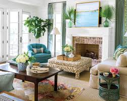 Blue And Gold Rug Gorgeous Southern Living Rooms Family Room Design Ideas With