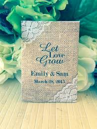 seed paper wedding favors burlap and lace wedding seed packets wedding favors favor universe