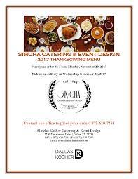 simcha catering thanksgiving menu dallas kosher