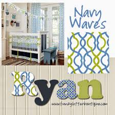 the funky letter boutique make waves hand painted boy u0027s nursery