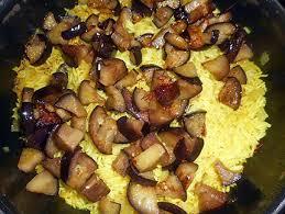 cuisiner aubergine a la poele recette de riz pilaf aux aubergines