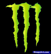 how to draw monster energy logo monster logo step by step