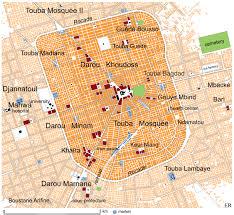 Senegal Map Touba U0026 More Eric Ross Academic