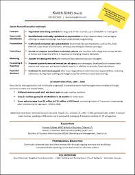 Sample Resume For Internship In Accounting by Sample Resume Format For Accounts Executive Free Resume Example