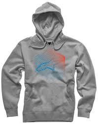 alpinestars fins pullover fleece men hoodies casual grey