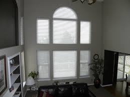 Woven Wood Roman Shades On Arched Window Specialty Shaped Windows The Blind Spot Inc