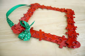 Making Christmas Ornaments - homemade christmas ornaments puzzle piece frame buggy and buddy