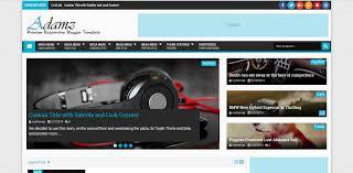 templates v1 blogger adamz v1 3 responsive blogger template free premium themepoi