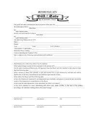 Bill Of Sale For A Car by Motorcycle Bill Of Sale Template Thebridgesummit Co