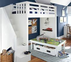 really amazing and cool pottery barn kids loft bed with desk