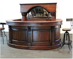 horseshoe front and back pub bar furniture with wine rack mirror