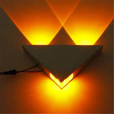 popular triangle lights buy cheap triangle lights lots from china aluminum modern wall sconce triangle designed 3w led wall light decoration home lighting ac85 265v