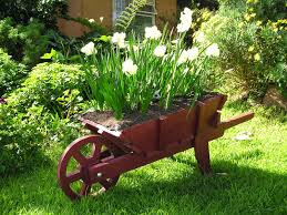 horse and cart planter box wooden wheelbarrow planter with free
