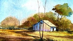 how to draw a village landscape with watercolor paint with david how to draw a village landscape with watercolor paint with david