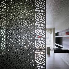 wood fiber decorative panel for partition walls perforated