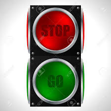 stop and go light stop and go traffic light on white royalty free cliparts vectors