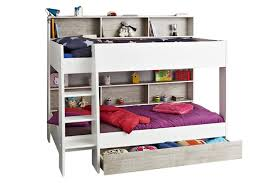 Charlie Storage Bunk White  Stone Ireland - White bunk bed with drawers